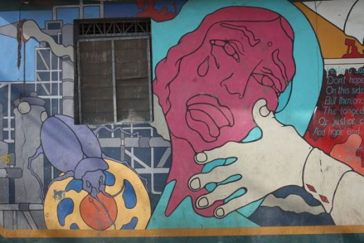 Memorial wall painting, Bhopal 2012
