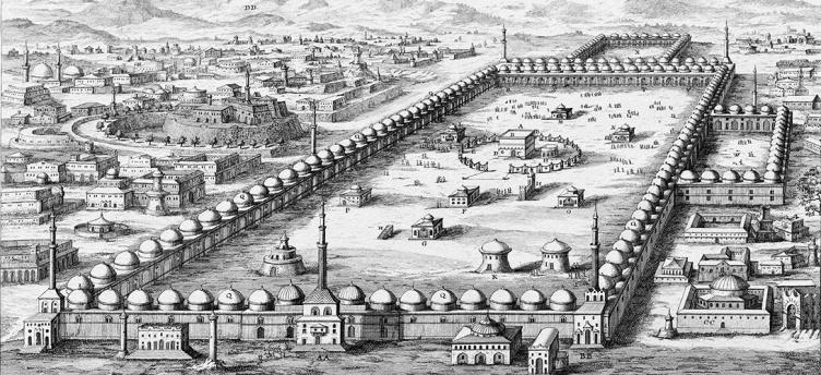 Vue de la Mecque datant de 1721 via Wikipedia, Domaine Public